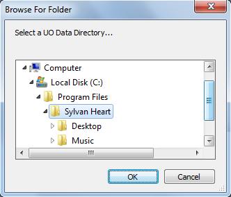 Razor UO Data Directory settings